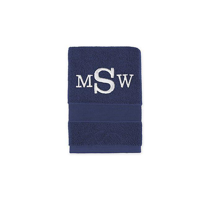 Alternate image 1 for Monogrammed  Wamsutta®  Classic Turkish Hand Towel in Navy