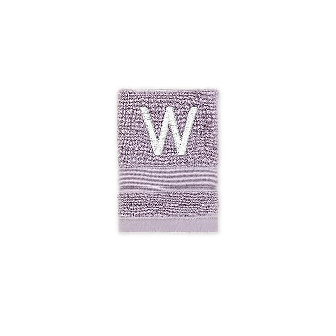 Alternate image 1 for Monogrammed Wamsutta® Classic Turkish Washcloth in Thistle