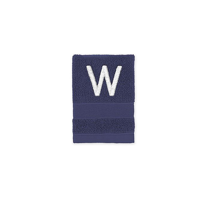 Alternate image 1 for Monogrammed Wamsutta® Classic Turkish Washcloth in Navy