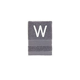Monogrammed Wamsutta® Classic Turkish Washcloth in Charcoal