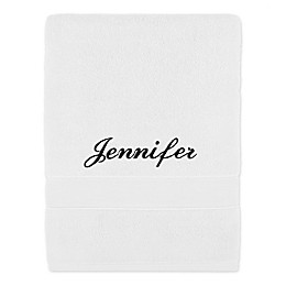 Monogrammed Wamsutta® Classic Turkish Bath Sheet in White