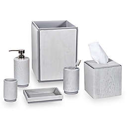 DKNY Wood Bath Accessory Collection in Grey