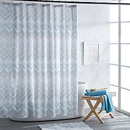 Mesa Chevron Shower Curtain Collection in Aqua