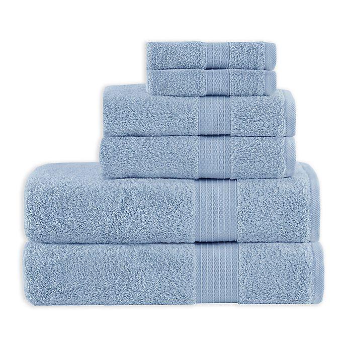 Alternate image 1 for Madison Park 6-Piece Bath Towel Set in Blue