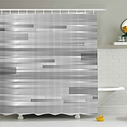 Ambesonne Modern Shower Curtain in Silver/Grey
