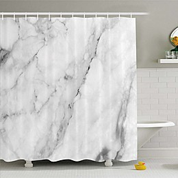 Ambesonne Shower Curtain in Grey/White