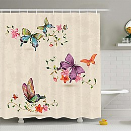 Ambesonne Butterfly Shower Curtain