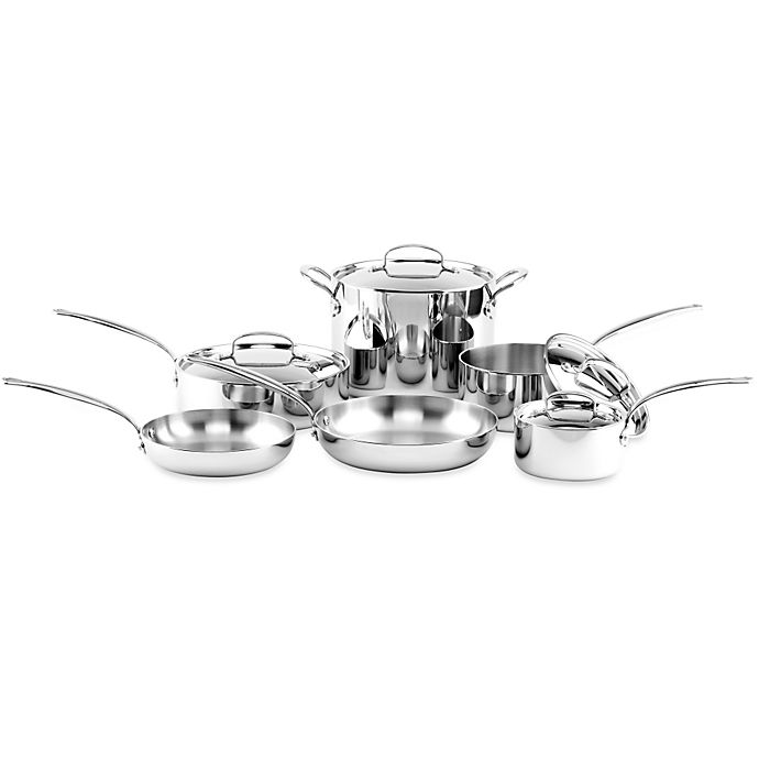 Alternate image 1 for GreenPan™ Barcelona Stainless Steel 10-Piece Cookware Set