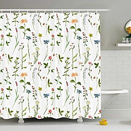 Colorful Florals Shower Curtain