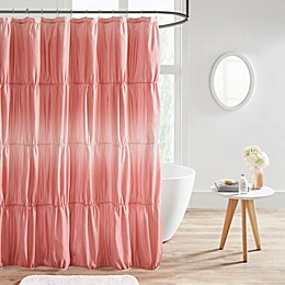 Intelligent Design Ellen Ruched Ombre Shower Curtain