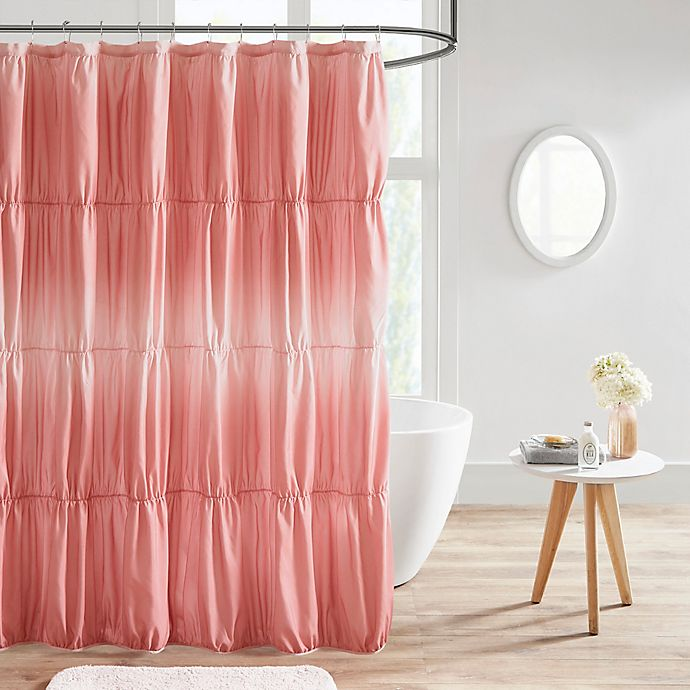 Alternate image 1 for Intelligent Design Ellen Ruched Ombre Shower Curtain