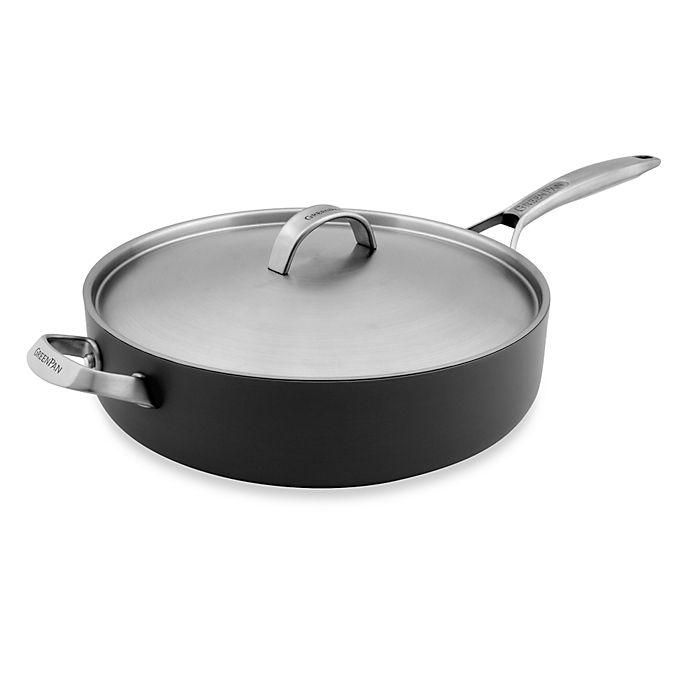 Alternate image 1 for GreenPan™ Paris Pro 4 qt. Ceramic Nonstick Sauté Pan with Helper Handle