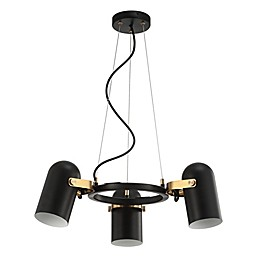 Jonathan Y Eugenio 3-Light Pendant Light in Black