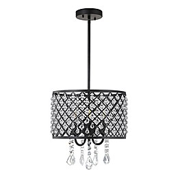 Jonathan Y Gigi 3-Light Adjustable Pendant Light in Black