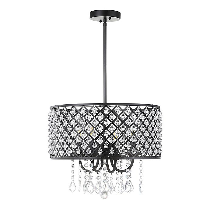 Alternate image 1 for Jonathan Y Gigi 4-Light Adjustable Pendant Light in Black