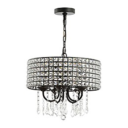 Jonathan Y Reese 5-Light Adjustable Pendant Light in Black