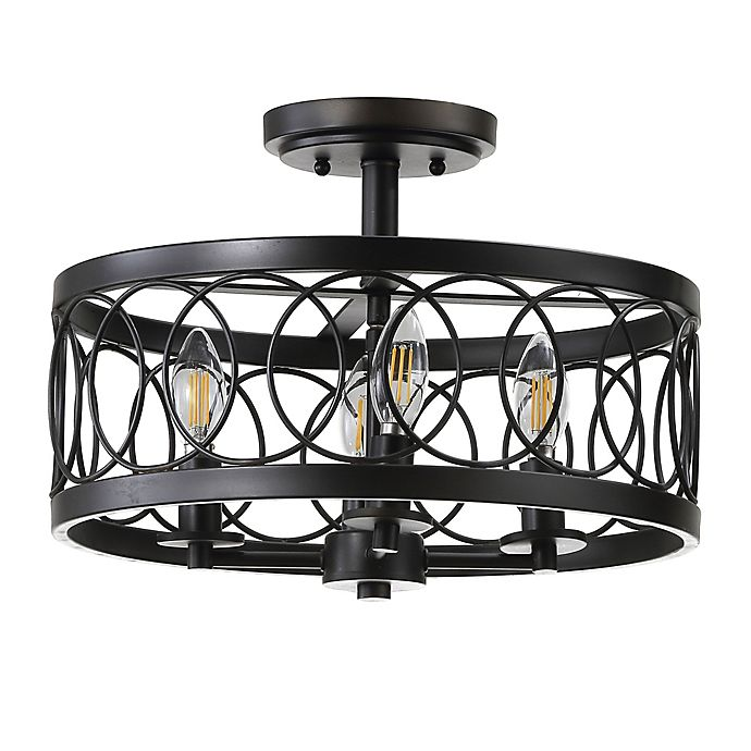 Jonathan Y Sylvain 4-Light Flush-Mount Ceiling Fixture in ...