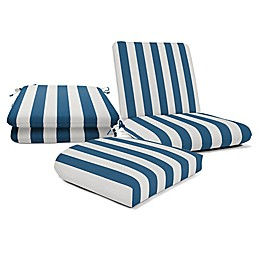 Casual Cushion Stripe Outdoor Cushion Collection in Sunbrella® Fabric