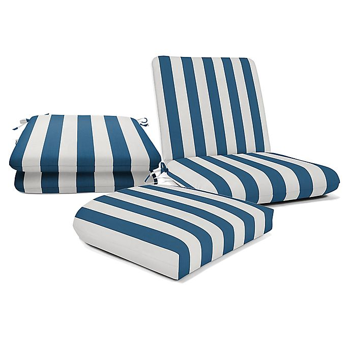 Alternate image 1 for Casual Cushion Stripe Outdoor Cushion Collection in Sunbrella® Fabric