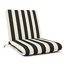 Casual Cushion Stripe Hinged Club Chair Cushion in Sunbrella® Fabric