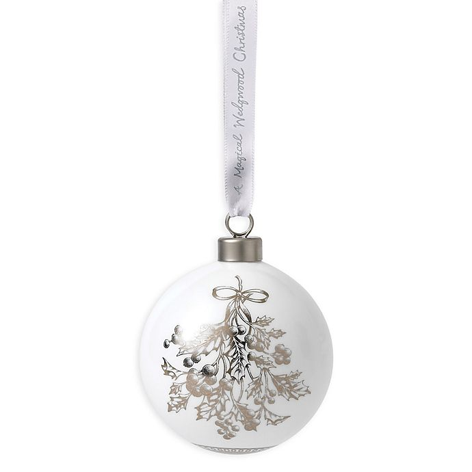 Wedgwood Christmas Ornaments 2019.Wedgwood 2019 Holly Ball Christmas Ornament Bed Bath And