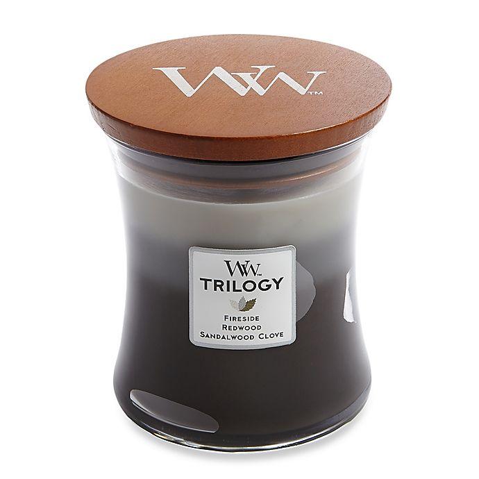 Alternate image 1 for WoodWick® Trilogy Warm Woods 10 oz. Jar Candle