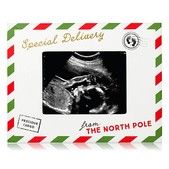 Alternate image 1 for Pearhead® Special Delivery from the North Pole 3-Inch x 4-Inch Sonogram Picture Frame