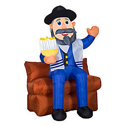 Mensch On A Bench Airblown Inflatable Outdoor Decoration