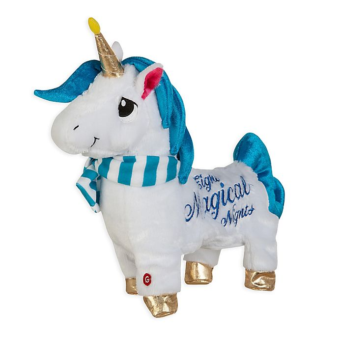 Alternate image 1 for Gemmy® Shimmy Shimmies Hanukkah Unicorn