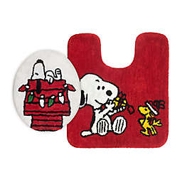 Peanuts™ Holiday Snoopy 2-Piece Toilet Cover and Rug Set