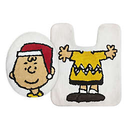 Peanuts™ Holiday Charlie Brown 2-Piece Toilet Cover and Rug Set