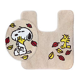 Peanuts Harvest 2-Piece Toilet Cover and Rug Set