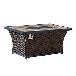 OVE Decors Bali Outdoor Fire Table in Dark Brown