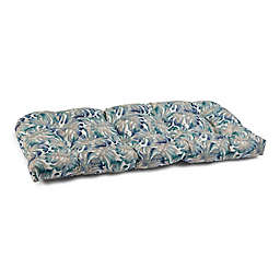 Double U-Shaped Textured Flannel Outdoor Loveseat Cushion