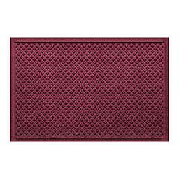 """Weather Guard™ Aqua Shield Gems 23"""" x 36"""" Door Mat in Burgundy"""