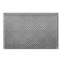 """Weather Guard™ Aqua Shield Gems 23"""" x 36"""" Door Mat in Grey"""