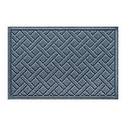 "Weather Guard™ Aqua Shield Lattice 23"" x 36"" Door Mat in Blue"