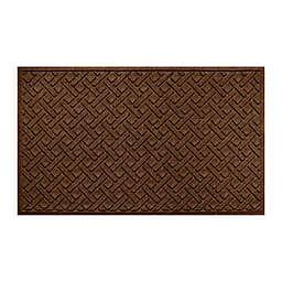 """Weather Guard™ Lattice 36"""" x 59"""" Door Mat in Dark Brown"""