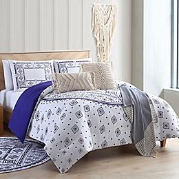 Sand Cloud Medallion 3-Piece Comforter Set in Navy/White
