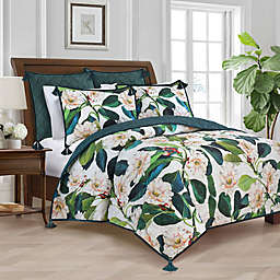 New York Botanical Garden® Margaret Reversible Twin Quilt in Green