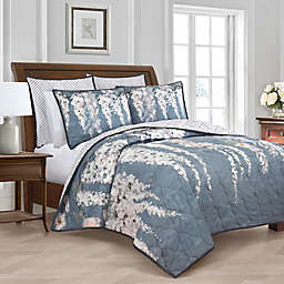 New York Botanical Garden® Wisteria Twin Quilt in Blue