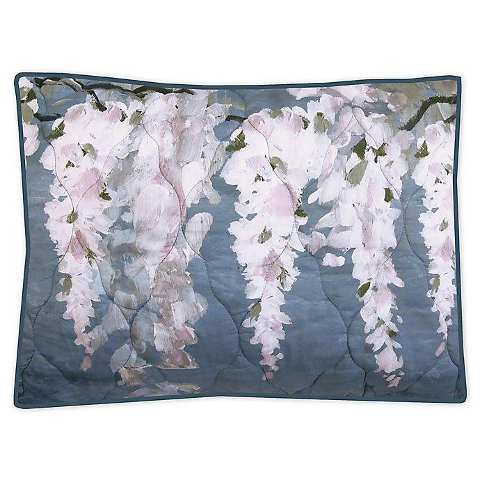 Alternate image 1 for New York Botanical Garden® Wisteria Standard Pillow Sham in Blue