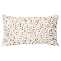 Sand Cloud Shahi 12-Inch x 20-Inch Oblong Throw Pillow in Ivory