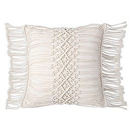 Sand Cloud Shahi 18-Inch Square Throw Pillow in Ivory