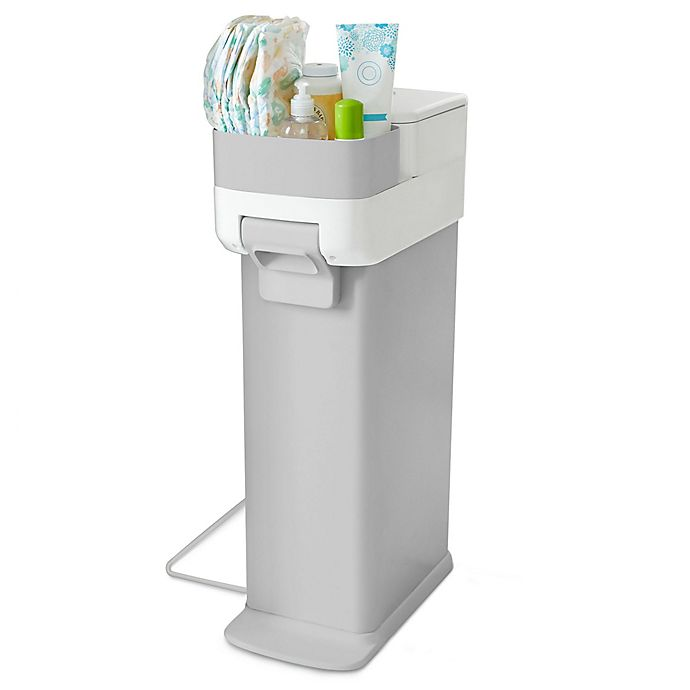 Alternate image 1 for Skip*Hop® Nursery Diaper Pail in Grey/White