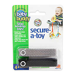 Baby Buddy® 2-Pack Secure-A-Toy in Black/Grey