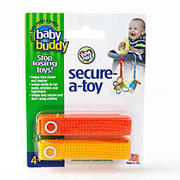Baby Buddy® 2-Pack Secure-A-Toy in Orange/Gold