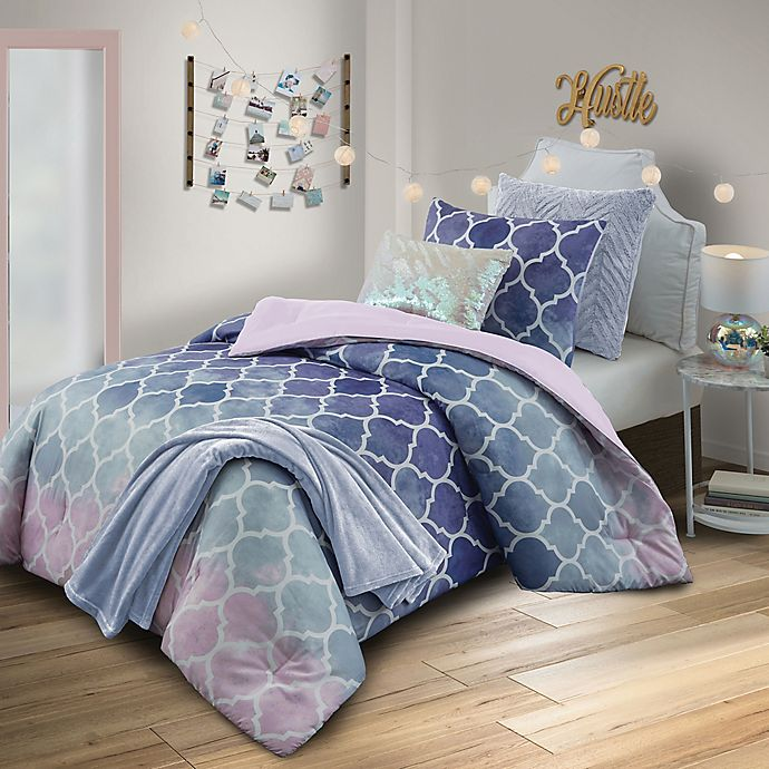 Alternate image 1 for Watercolor Bree 6-Piece Reversible Comforter Set
