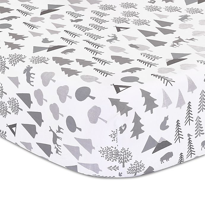 Alternate image 1 for The Peanutshell™ Forest Dream Fitted Crib Sheet