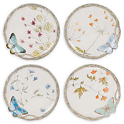 Fitz and Floyd® Butterfly Fields Brunch Plates (Set of 4)